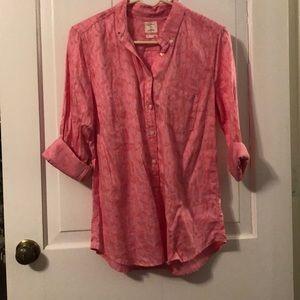 EUC Gap Pink Penguins Shirt
